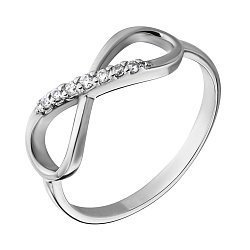 Золотое кольцо с кристаллами циркония 000036422