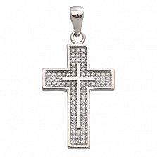 Серебряный крест с фианитами Символ Надежды