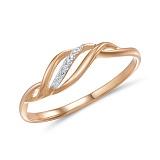 Кольцо из красного золота с бриллиантами Айрис