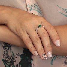 Серебряное кольцо Стенбек с агатом и фианитами