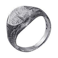 Кольцо из серебра Hill с чернением