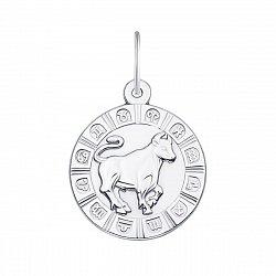 Серебряная подвеска Телец 000133239