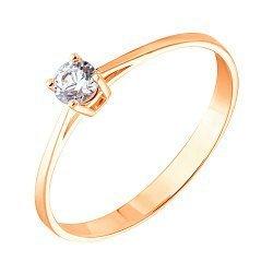 Золотое кольцо с цирконием Swarovski 000053305