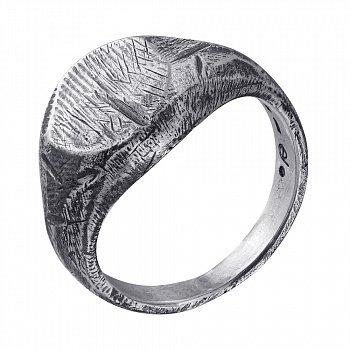Каблучка зі срібла Hill з чорнінням 000091358