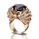 Золотое кольцо Глафира с гранатом