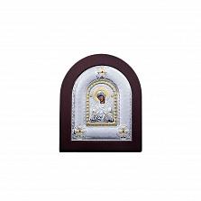 Серебряная икона Божьей Матери Семистрельная в дереве