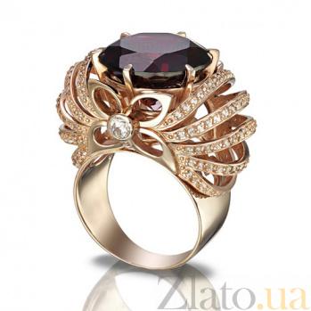 Золотое кольцо Глафира с гранатом TNG--374655