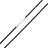 Шелковый шнурок черного цвета с серебряным замком Триест