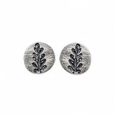 Серебряные серьги-пуссеты Олива