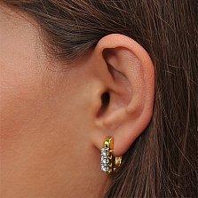 Золотые серьги с бриллиантами Рената