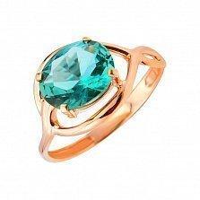 Кольцо из красного золота Скарлетт с зеленым кварцем