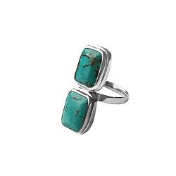 Серебряное кольцо Морская бездна с бирюзой