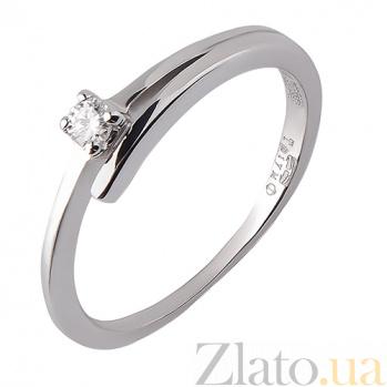 Кольцо из белого золота с бриллиантом Леона TRF--1221179н