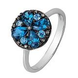 Золотое кольцо Жюстин с сапфирами и бриллиантами