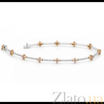 Браслет Argile с бриллиантами и розовыми сапфирами B-cjAr-W/R-48s-84d