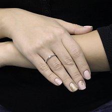 Помолвочное золотое кольцо Перея в белом цвете с бриллиантом