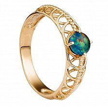 Золотое кольцо Луизиана с опалом
