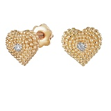Серьги из золота с бриллиантами Сердечки