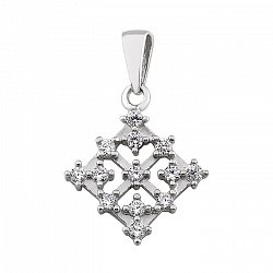 Серебряная подвеска с белыми фианитами 000095463