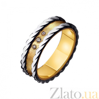 Золотое обручальное кольцо Романтичное настроение с фианитами TRF--4421539
