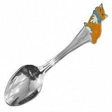 Серебряная ложка с эмалью Леопольд