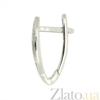 Серебряные серьги с бриллиантами Петра ZMX--ED-6785-Ag_K