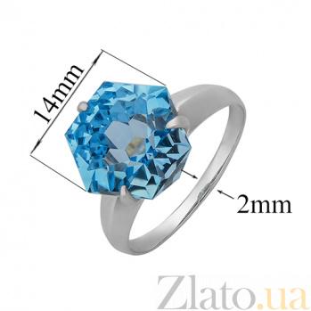 Серебряное кольцо с голубым топазом Риккарда PTL--7к689/27