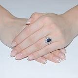 Золотое кольцо Хелена с сапфиром