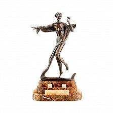 Бронзовая скульптура Терпсихора на подставке из яшмы и оникса