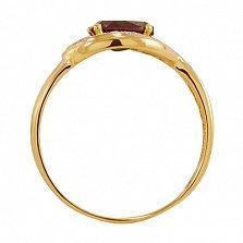 Золотое кольцо Сандра с синтезированным александритом и фианитами