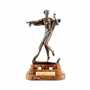Бронзова скульптура Терпсихора на підставці з яшми і онікса 000051948