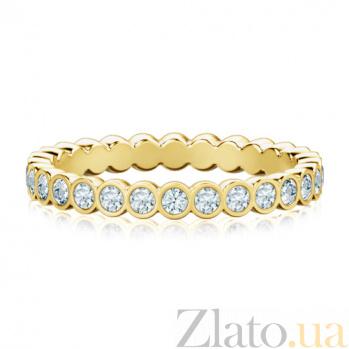 Обручальное кольцо из желтого золота с бриллиантами Летний дождь 294