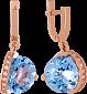 Золотые серьги с топазом и цирконием Илэрия VLN--113-1298-1