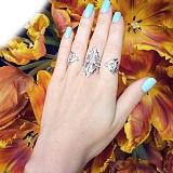 Золотое кольцо в белом золоте с бриллиантами Джесика