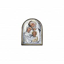Серебряная икона Счастливое Семейство с позолотой