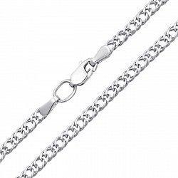 Серебряная цепочка в плетении двойной ромб 000123362