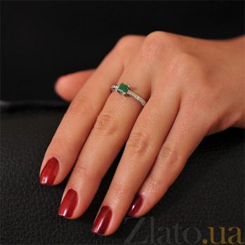 Золотое кольцо с изумрудом и бриллиантами Весенний день EDM--КД7494/1СМАРАГД