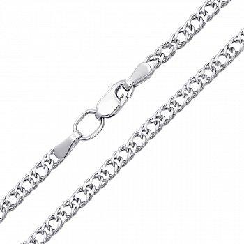 Серебряная цепочка в плетении двойной ромб 2мм 000123362
