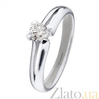 Кольцо из белого золота с бриллиантом Синтия KBL--К1656/бел/брил
