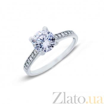 Кольцо серебро с цирконом  AQA--YSR-010