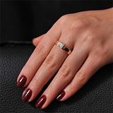 Золотое кольцо с кристаллом Swarovski Взаимность