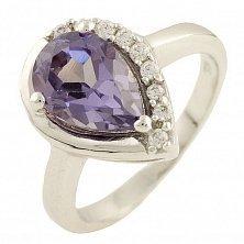 Серебряное кольцо Даниэла с александритом и фианитами