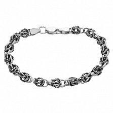 Серебряный браслет с чернением Камилла