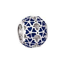 Срібний шарм із синьою емаллю 000118347
