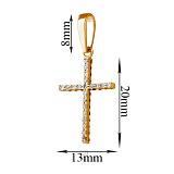 Золотой крестик Истина с фианитами