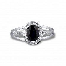 Кольцо из белого золота Сильвия с сапфиром и бриллиантами