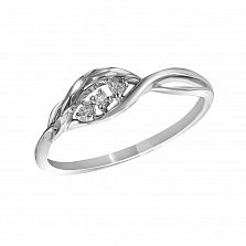 Кольцо из белого золота Сондра с бриллиантами