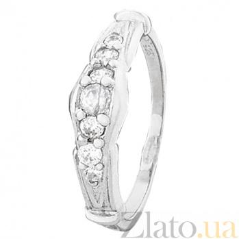 Кольцо из серебра с цирконием Виргиния 000028053