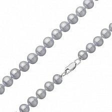 Жемчужное ожерелье Silver Glow с золотым замком, диам. 7,0-10,5мм