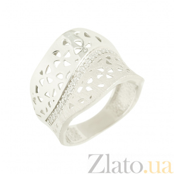 Золотое кольцо с фианитами Варвара 2К765-0044